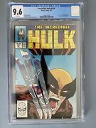 Incredible Hulk 340 Cgc 9.6 Iconic Mcfarlane Cover Wolverine Appears