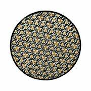 18 Black Round Marble Coffee Table Top Pietra Dura Inlay Living Room Antique P2