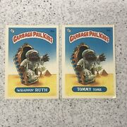 1985 Garbage Pail Kids Series 1 36a And 36b Lot Of 2 Wrappin Ruth Tommy Tomb