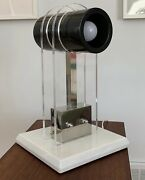 Vintage Mid Century Modern Art Deco Revival Table Lamp Marble And Lucite Mcm Italy
