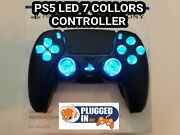 Sony Ps5 Led Lights Midnight Black Controller