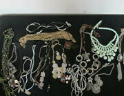 Lot Of Costume Jewery Necklaces Beaded/metal Etc