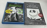 New Disney's The Nightmare Before Christmas Sealed 2008 And Frankenweenie 2013 Dvd
