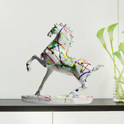 Modern Horse Statue Resin Sculpture Tv/wine Cabinet Home Dining Table Decor