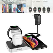 Choetech Charger Stand 4in1 Wireless Charging For Iphone Apple Watch Galaxy Note