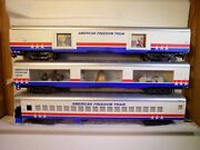 Lionel Ho Scale American Freedom Train 3 Cars Pre-owned