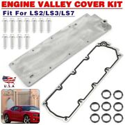 Engine Valley Cover Set For Gm Performance Parts Chevrolet Ls2/ls3/ls7 Wo/pcv