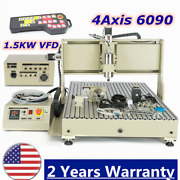 1.5kw 4axis 6090 Cnc Router Engraver Engraving Milling Machine + Rc Usb Port