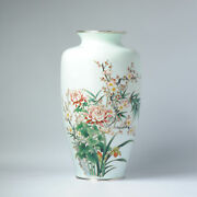 Lovely Ando Jubei Early 20th C Antique Period Japanese Vase Flower Cloisonne