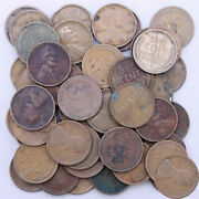 1909 Lincoln Wheat Cent Roll 50 Cull Problem Pennies Us Coins