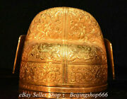 6 Marked Old Chinese Bronze 24k Gold Gilt Dynasty Flower Official Headgear