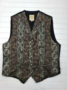 Wah Maker Frontier Clothing Gold Brown Vintage Style Vest Mens Xxl 2xl Tall