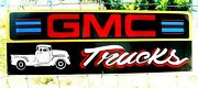 Vintage Chevy Chevrolet Gmc General Motors Gas Oil Hand Painted Truck Sign Black