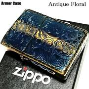 Zippo Armor Antique Floral Double-sided Engraving Gold