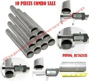 Straight Exhaust Pipe Tailpipe 1.75od To 1.75id 18 Aluminized Steel 10pcs