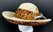 Jack Mcconnell Vintage Hat Tan And Brown Feathers One Of A Kind Red Feather Label