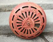 Vintage Cast Iron Grinnell Automatic Sprinkler Fire Alarm Red Industrial Decor