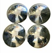 4pc Vintage 10 Fully Chrome Round Hubcaps Fits 1940and039s-1960and039s Vehicles Fast Ship
