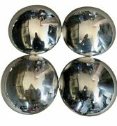 Vintage Set Of 4 Chrome 9 Thin Cone Shape Hubcaps Fitand039s 60and039s-80and039s Hotrod