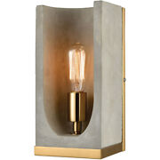Dimond Lighting D3804 Shelter Wall Sconce Concrete With New Aged Brass