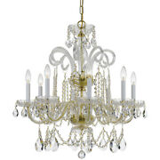 Crystorama 5008-pb-cl-s Traditional Crystal Chandelier Polished Brass