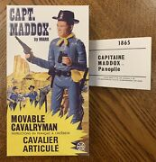 Marx Johnny West Canadian Captain Maddox Repro Box And Manual Only