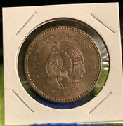 1959 Km450 Mexico 50 Cents Bright Toned Dark Brown Color Bu 33mm Look Buy Now