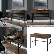 Manor Park Modern Lift Top Tablet Holder Writing Desk Birch And Graphite