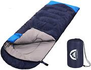 Camping Sleeping Bag Warm Cool Weather Indoor Outdoor Use For Kids Adults New