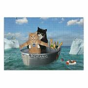 Glaphy Romantic Cat Puzzles Jigsaw Puzzle Adults Kids Family Cardboard Puzzle...