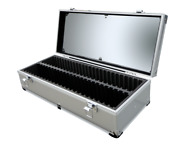 X2 Aluminum Storage Clear Top Coin Cargo Boxes Display Case 50 Certified Slabs