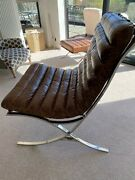 Andrew Martin Garcia Chair Chromed Steel And Leather Andldquogarcia Andldquo Lounge Chair