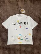 Gallery Dept X Lanvin White Painted Short Sleeve Tee Size S