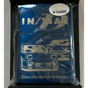New Unused Initials Zippo Lighter Initial Limited Blue Titanium With Box Japan