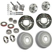 Speedway Early Ford Spindle And Finned Buick Drum Brake Kit