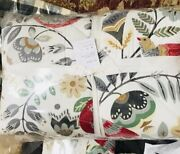 Pottery Barn Jolly Bird Comforter Twin And Standard Sham Holiday Quilt Holiday New