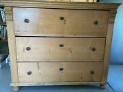 Antique 19th C. Swedish Pine Chest Of Drawers
