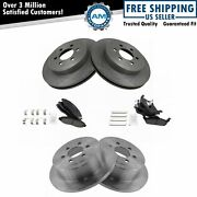 Front And Rear Ceramic Pad And Rotor Kit For Dodge Dakota
