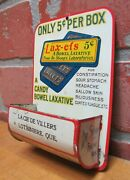 Dr Shoop Racine Wis Lax-ets Bowl Laxative Antique Advertising Tin Matchsafe Sign