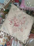 Vintage Needlework Tapestry Cushion Pillow Beautiful Colour