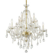 Crystorama Can-a1312-pb-cl-s Candace Chandelier Polished Brass