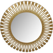 Moe's Home Collection Ty-1038-32 Radiate 44 X 44 Inch Gold Mirror