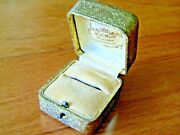 Antique Germany Embossed Gold Foil Floral Push Button Ring Boxlewistown Pa