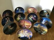 """Franklin Mint Collectors Plates """"reach For The Stars"""" By Jean Dixon, All 12"""
