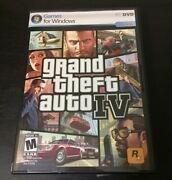 Grand Theft Auto Iv Pc Game Windows Gta4 2 Discs Complete With Map And Manual