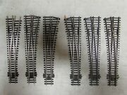 6 Peco Nickle/silver Switch Turnouts Ho Scale Lot 13