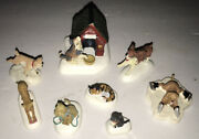 Dept 56 D56 Christmas Village Snow Accessories Dogs And Cats 52828 Plus Lemax