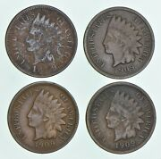 Lot 4 1909-s Indian Head Cents 5139