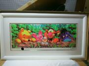Disney Winnie The Pooh Painting 1pc How Do You Do Silk Screen Framed Limited