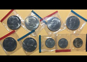 J13 - 9 Different Mint 1 Coins Sealed In Cello Including Bicentennials. Ike Sba